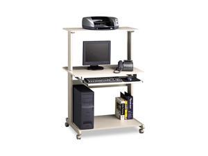 Mayline 8350MRGRYGRY Eastwinds Multimedia Workstation, 36¾w x 21¼d x 50h, Gray/Gray
