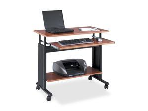 "Safco 1926CY 35"" Wide Adjustable Height Workstation, 22d x 34h, Cherry"