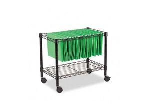 Alera FW60-1424BL Single-Tier Rolling File Cart, 24w x 14d x 21h, Black