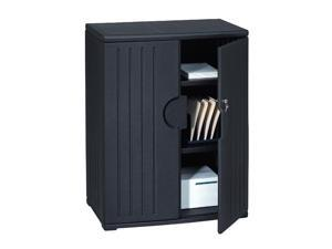 Iceberg OfficeWorks Resin Storage Cabinet, 36w x 22d x 46h, Black
