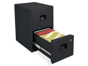 Sentry Safe 6000B FIRE-SAFE 2-Drawer Insulated Vertical File, 17-1/2w x 23-1/4d x 28h, Black