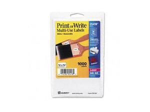 Print or Write Removable Multi-Use Labels, 1/2 x 3/4, White, 1000/Pack