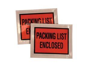 Quality Park™                            Full-Print Self-Adhesive Packing List Envelope, Orange, 5 1/2 x 4 1/2, 1000/Box