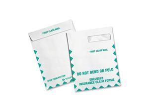 Quality Park™                            Redi-Seal Insurance Envelope, First Class, Side Seam, 9 x 12 1/2, White, 100/Box