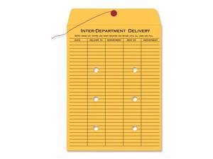 Quality Park Light Brown Kraft String & Button Interoffice Envelope, 10 x 15, 100/Carton
