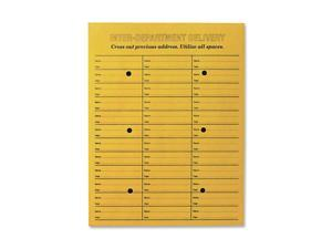 Quality Park Brown Kraft String & Button Box-Style Interoffice Envelope, 10 x 13, 100/Box