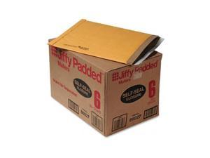 Sealed Air                               Jiffy Padded Self-Seal Mailer, Side Seam, #6, 12 1/2x19, Gold Brown, 50/Carton