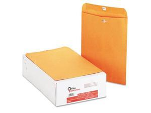 Office Impressions Kraft Clasp Envelopes, 9 x 12, 28lb, Brown Kraft, 100/Box