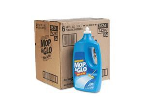 Professional MOP & GLO 74297CT Triple Action Floor Cleaner, 64 oz Bottles, 6/Carton