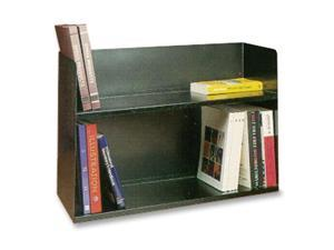 Buddy Products 1221-4 Two-Tier Book Rack, Steel, 30 1/8 x 10 1/2 x 20, Black