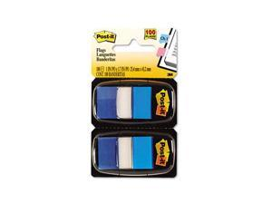 Post-it                                  Marking Flags in Dispensers, Blue, 12 50-Flag Dispensers/Pack