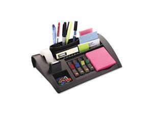 Post-it C-50 Notes Dispenser with Weighted Base, Plastic, 12 x 8 x 2, Charcoal Gray