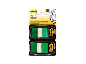 Post-it                                  Marking Flags in Dispensers, Green, 50 Flags/Dispenser, 12 Dispensers/Pack