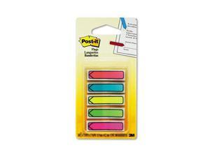 "Post-it                                  Arrow 1/2"" Flags, Five Assorted Bright Colors, 20/Color, 100/Pack"
