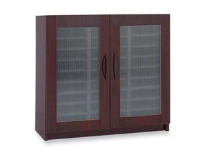Safco 9356MH Literature Organizer, Particleboard/Polycarbonite, 30 Compartments, Mahogany