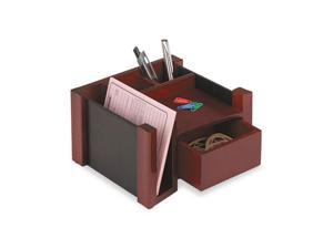 Rolodex Desk Director, Wood, 7 1/8 x 6 3/4 x 4 1/8, Black/Mahogany