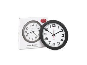 Howard Miller 625-320 Norcross Auto Daylight-Savings Wall Clock, 12-1/4in, Black, 1 AA