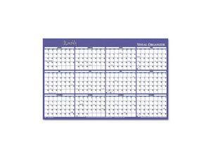 "Visual Organizer                         Visual Organizer Horizontal Erasable Wall Planner, 48"" x 32"""