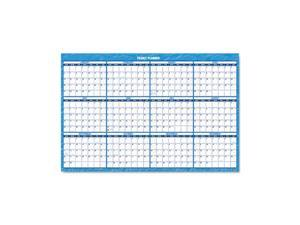 "Recycled Horizontal Erasable Wall Planner, 36"" x 24"""