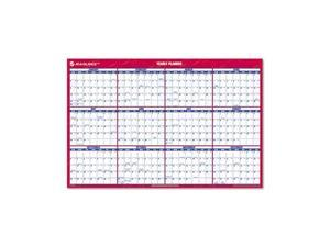 "AT-A-GLANCE PM26-28 Recycled Vertical/Horizontal Erasable Wall Planner, 24"" x 36"""