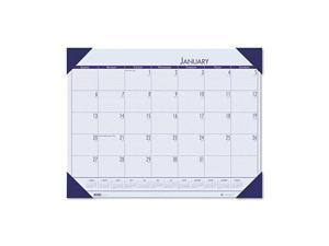 House of Doolittle™                      EcoTones Ocean Blue Monthly Desk Pad Calendar, 22 x 17