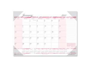 House of Doolittle™                      Breast Cancer Awareness Monthly Desk Pad Calendar, 18-1/2 x 13
