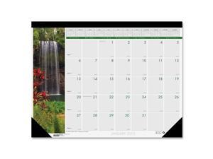 Waterfalls of the World Photographic Monthly Desk Pad Calendar, 22 x 17