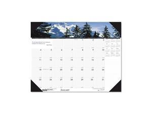 Mountains of the World Photographic Monthly Desk Pad Calendar, 18-1/2 x 13