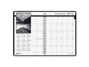 House of Doolittle™ Monthly Planner w/Black-&-White Photos, 8-1/2 x 11, Black