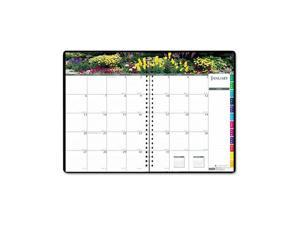 House of Doolittle™ Gardens of the World Ruled Monthly Planner, 7 x 10, Black