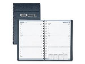 House of Doolittle 278-02 Weekly Appointment Book, 30-Minute Appointments, 5 x 8, Black