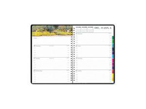 House of Doolittle 2946-32 Gardens of the World Weekly/Monthly Planner, 7 x 10, Black