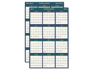 Four Seasons Reversible/Erasable Business/Academic Year Wall Calendar, 24 x 37
