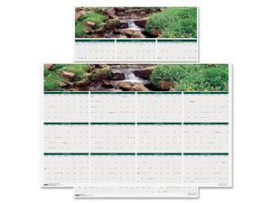 House of Doolittle 397 Earthscapes Waterfalls of the World Reverse/Erase Yearly Wall Calendar, 24 x 37