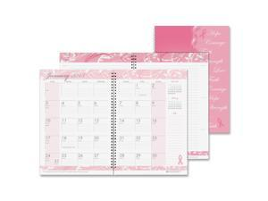 House of Doolittle 5226 Breast Cancer Awareness Monthly Planner/Journal, 7 x 10, Pink