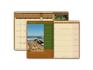 House of Doolittle 528 Landscapes Weekly/Monthly Planner, 8-1/2 x 11, Brown