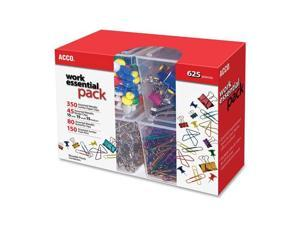 Club Clip Pack, 80 Ideal, 45 Binder, 350 Jumbo Paper Clips, 150 Push Pins