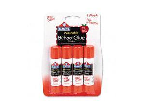 Washable School Glue Sticks, 4/Pack