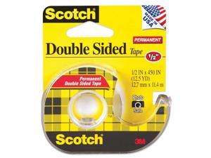 "Scotch 137 665 Double-Sided Office Tape w/Hand Dispenser, 1/2"" x 450"""