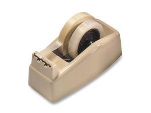 "3M                                       Two-Roll Desktop Tape Dispenser, 3"" core, High-Impact Plastic, Beige"