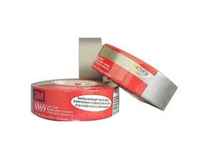 """3M 6969-2 Poly-Coated Cloth Duct Tape for HVAC, 1.88"""" x 60 yards, 3"""" Core, Silver"""