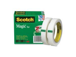 "Scotch 810-2P34-72 Magic Tape, 3/4"" x 2592"", 3"" Core, 2 Rolls"