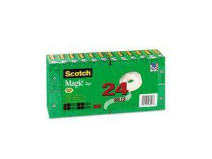 """Scotch 810K24 Magic Office Tape Value Pack, 3/4"""" x 1000"""", 1"""" Core, Clear"""