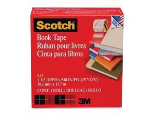 "Scotch 845-1-1/2 Book Repair Tape, 1-1/2"" x 15 yards, 3"" Core"