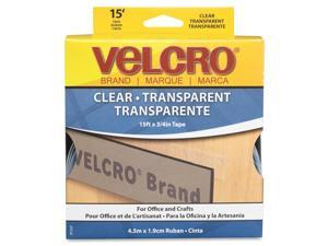 Velcro 91325 Sticky-Back Hook and Loop Fastener Roll, 15 Inches, Clear