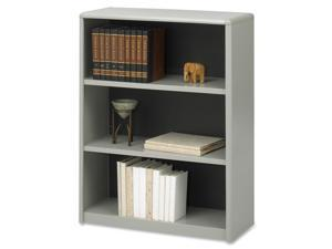 Safco 7171GR Value Mate Series Bookcase, 3 Shelves, 31-3/4w x 13-1/2d x 41h, Gray