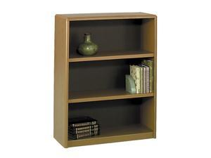Safco 7171MO Value Mate Series Bookcase, 3 Shelves, 31-3/4w x 13-1/2d x 41h, Medium Oak