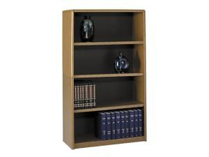 Safco 7172MO Value Mate Series Bookcase, 4 Shelves, 31-3/4w x 13-1/2d x 54h, Medium Oak