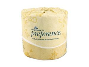Georgia Pacific                          Preference Embossed 2-Ply Bathroom Tissue, 550 Sheet/Roll, 80 Rolls/Carton