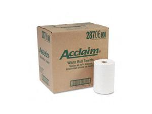 Georgia Pacific 28706 Acclaim Nonperforated Paper Towel Rolls, 7-7/8 x 350', White, 12/Carton